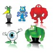 Royalty-Free Stock Vectorielle: Funny monsters