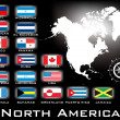 Wektor stockowy : Map of North America