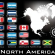 Map of North America — Stockvektor #5680956