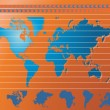 Vector de stock : World map background