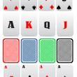 4 aces — Stock Vector