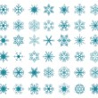 Background with snowflakes — Stock Vector