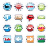 Vector conjunto de etiquetas — Vector de stock