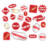 Vector set of tags — Stock Vector
