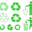 Stock Vector: Recycle signs