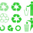 Recycle signs - Stockvectorbeeld