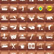Stock Vector: Tourist locations icon set