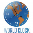 World clock — Stock Vector
