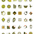 Stock Vector: Set of 36 icons and design-elements