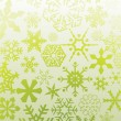 Stock Vector: Green snowflakes