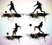 Soccer player vector — Stock Vector