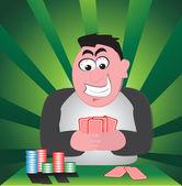 Winner man vector illustration background — Stock Vector