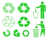 Recycle signs — Stock Vector
