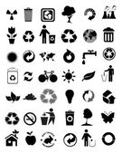 Set of 42 environmental icons — Stock Vector