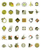 Set of 36 icons and design-elements — Stock Vector