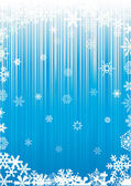White snowflakes on blue background — Stock Vector