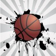 Stock Vector: Basketball background