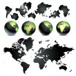 Globe of the World — Stock Vector