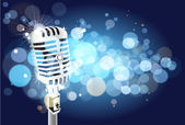 Microphone background — Stock Vector