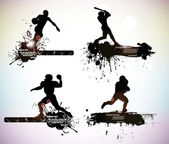 Sport silhouettes — Stock Vector