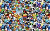 Kreatywne tapety ikony — Zdjęcie stockowe