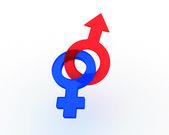 Symbols of masculine and feminine — Stock Photo