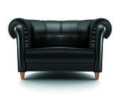 Black leather chair — Stock Photo