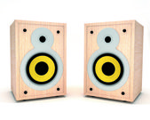 Two music speakers — Stock Photo
