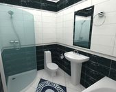 Bathroom 3d rendering — Stock Photo