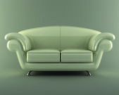 White leather sofa — Stock Photo