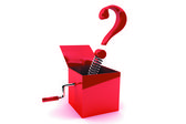 Box with the question — Stock Photo