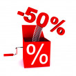 Stockfoto: Discount of 50 percent