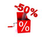 Discount of 50 percent — Стоковое фото