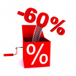 Foto de Stock  : Discount of 60 percent
