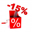 Discount of 15 percent — Stock fotografie #5865837