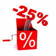 Discount of 25 percent — Stock Photo