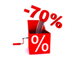 Discount of 70 percent — Stock Photo