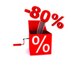 Discount of 80 percent — Stock Photo