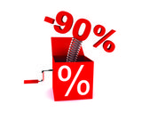 Discount of 90 percent — Stock Photo