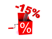 Discount of 15 percent — Stock Photo