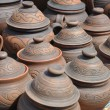 Folk art. ceramics. pots — Stock Photo