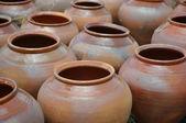 Folk art. ceramics. pots — Stock Photo