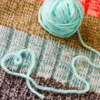 Stock Photo: Knitting - hobbies from heart