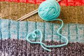 Knitting - hobbies from heart! — Stock Photo
