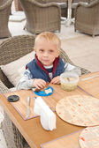 Dinner for little boy — Stock Photo