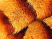 Soft, red, air fur of a fox as a background — Stock Photo