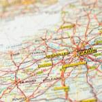 Map paris — Stock Photo