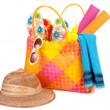 Beach bag - Stock Photo