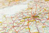 Map paris — Stock Photo