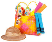 Beach bag — Stock Photo